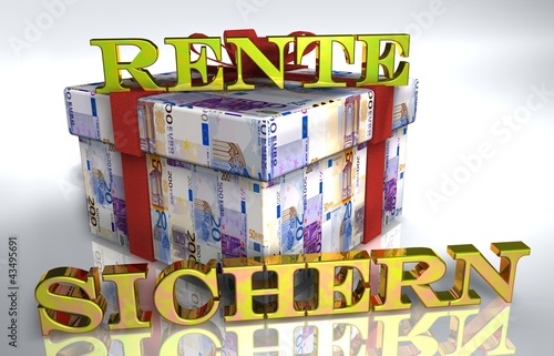 3d Geldgeschenk Weiss Rente Sichern Buy This Stock Illustration