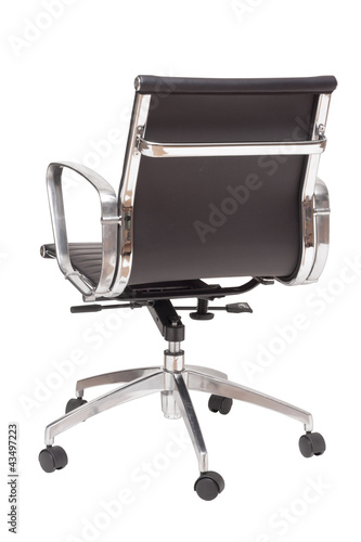 Photo  back view office chair