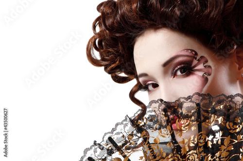 Cuadros en Lienzo woman beautiful halloween vampire baroque aristocrat