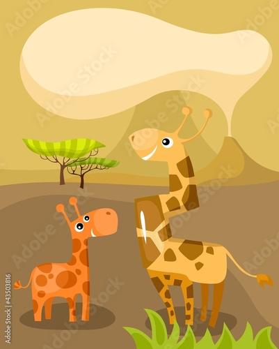 Poster de jardin Zoo african card