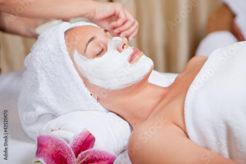 Plissee mit Motiv - skin care