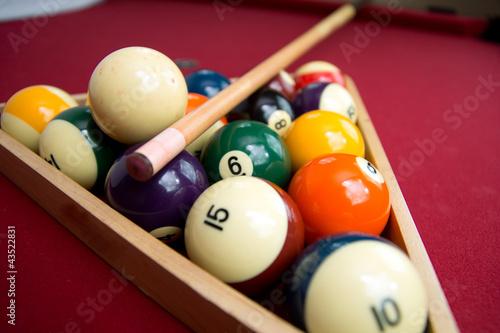 Canvas Print Pool or Billiard Balls and Triangel