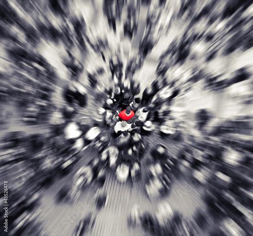 Fotografía  La gente roja de zoom