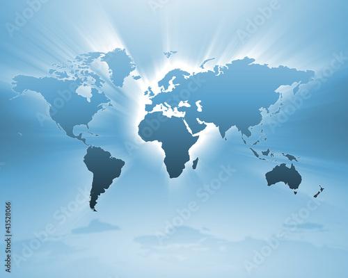 Foto op Canvas Wereldkaart World map