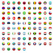 198 Weltfahnen Flaggen Icon Button Teil 1 A - L