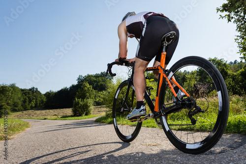 obraz dibond Triathlet auf dem Fahrrad