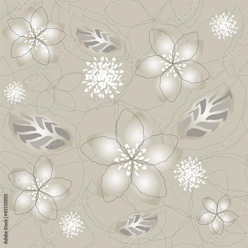 bezszwowa-szarosc-srebra-kwiatu-tapeta