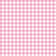 Pink Gingham Fabric Background
