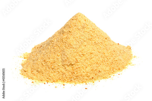 Valokuva  Bread Crumbs (Rusk Flour) Isolated on White Background