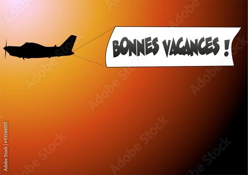 Valokuva  banderole avion bonnes vacances 03
