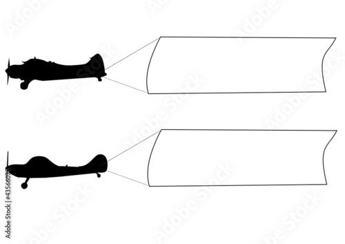 Valokuva  banderoles deux avions
