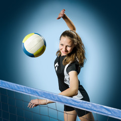 Fototapeta volleyball girl