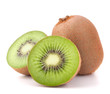 canvas print picture - Whole kiwi fruit and his segments