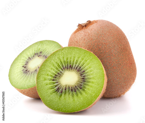 Fototapeta Whole kiwi fruit and his segments