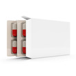 Package of Medical Pills isolated on white background