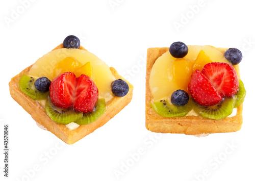 Cadres-photo bureau Nature Cupcakes with berries