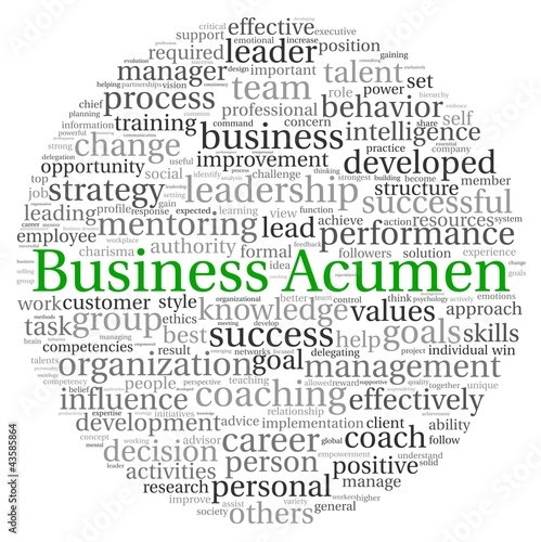 Business Acumen concept in word tag cloud Canvas Print