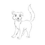 02 Hund Outlines Malbild