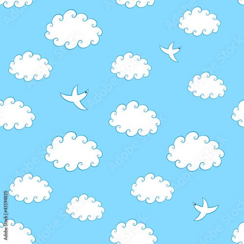 Recess Fitting Heaven Sky Seamless Pattern