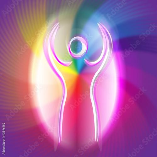 engelswesen - regenbogenfarben Poster