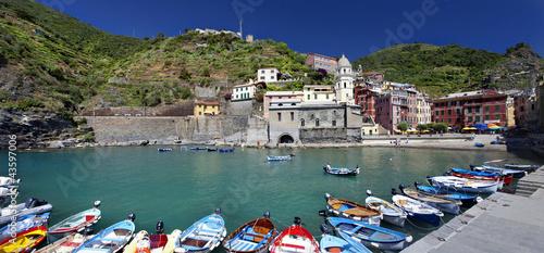Fotobehang Liguria Puerto de Vernazza (Cinque Terre, Italy)