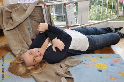 Valokuva  Unfall bei Hausarbeit