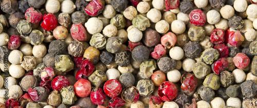 Keuken foto achterwand Macrofotografie peppercorns mix