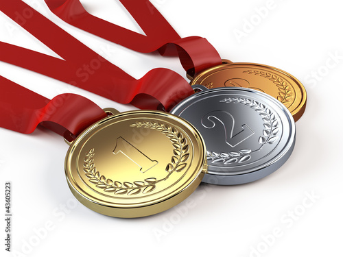 Fotomural Gold, Silver and bronze medals