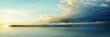 Panorama of sea sunset