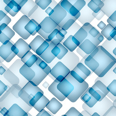 Abstract seamless pattern with transparent squares. Eps 10.