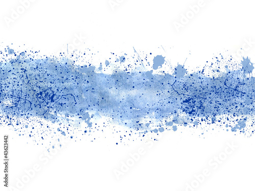 fototapeta na lodówkę Fondo abstracto, ilustración, salpicadura, azul
