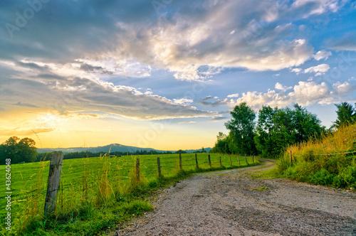 Farmland Sunset