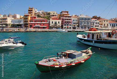 Fototapeta Panorama of Aghios Nikolaos in Crete, Greece. obraz na płótnie