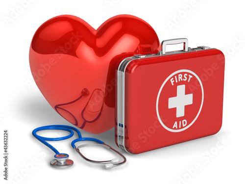 Fotografie, Obraz  Medical assistance and cardiology concept