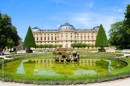 Fotografiet  baroque palace - Residenz Würzburg Germany