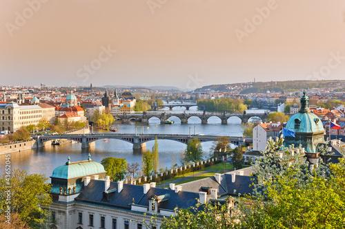 In de dag Praag Prague at sunset