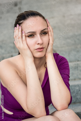 Big problems - worried woman