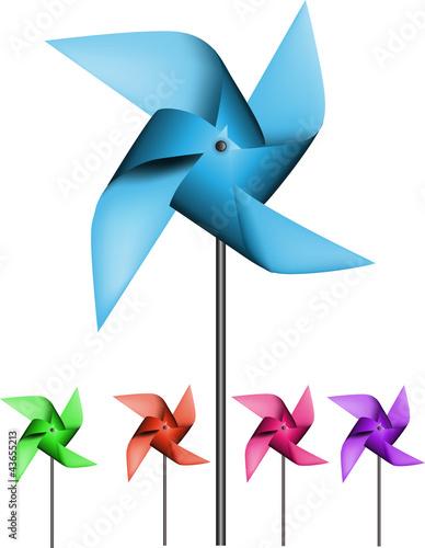 Fotografia, Obraz  Colorful pinwheels