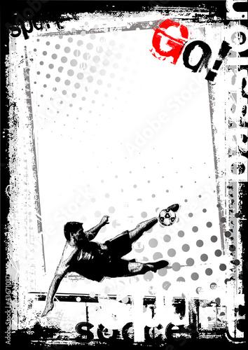 plakat-pilkarski-z-strzelajacym-pilkarzem