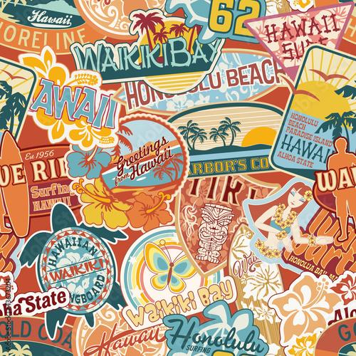 Materiał do szycia Hawaje naklejki bezszwowe wzór