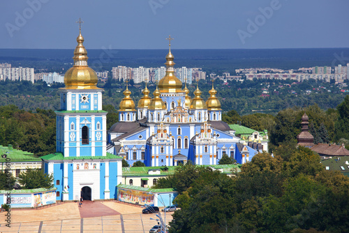 Photo Stands Kiev St. Michael's Golden-Domed Monastery in Kiev, Ukraine
