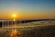 Sonnenuntergang an der Ostseeküste.