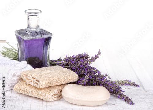 Lavender spa still life