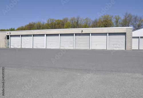 Fotografie, Obraz row of garages