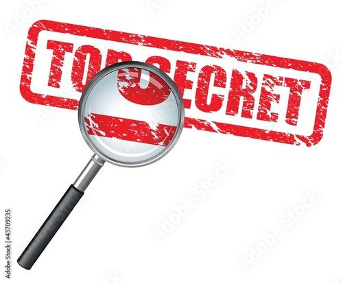 Photo  top secret magnifying glass