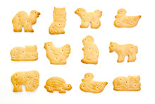 Animal Crackers Isolated On Wh...