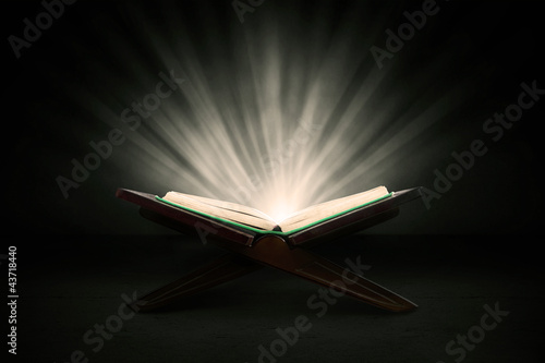 Holy quran with rays Wallpaper Mural