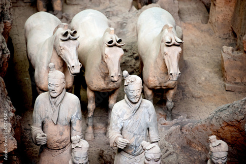 Foto op Plexiglas Xian Terracotta warriors and horses