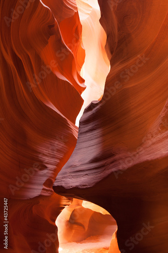 Recess Fitting Magenta Antelope Canyon in the Navajo Reservation in Arizona