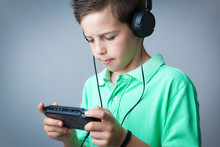 Boy Playing Game Console Again...
